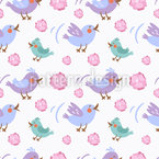 Schnatternde Vögel Nahtloses Vektormuster