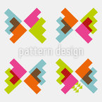 Techno Butterflies Pattern Design