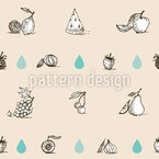 Fruits Love Water Seamless Vector Pattern Design