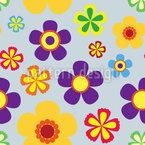 Flower Power Im Frühjahr Nahtloses Vektormuster