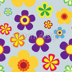 Flower Power In Spring Seamless Vector Pattern Design