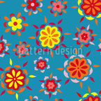 Flower Burst Seamless Vector Pattern Design