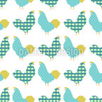 Chickens Seamless Vector Pattern Design