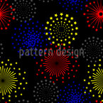 Spectacular Fireworks Seamless Vector Pattern Design