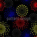 Spektakuläres Feuerwerk Nahtloses Vektor Muster