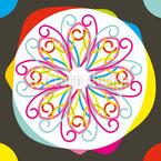 Farbklecks Nahtloses Vektormuster