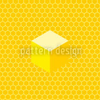 Favo de mel Design de padrão vetorial sem costura