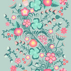 Fantasy Garden Seamless Vector Pattern Design