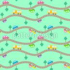 Strassen und Autos Rapportiertes Design