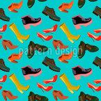 Arten von Schuhen Nahtloses Vektormuster