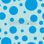 Blue Bubbles Seamless Vector Pattern Design