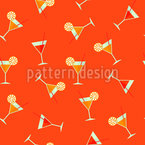 Fancy Cocktails Seamless Vector Pattern Design