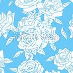 Cool Rose Seamless Vector Pattern Design