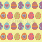 Lovely Easter Eggs Seamless Vector Pattern Design