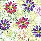 花をもたらす喜び シームレスなベクトルパターン設計
