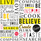 Be Inspired Seamless Vector Pattern Design