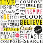Sei Inspiriert Nahtloses Vektor Muster