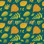 Stilisierte Blätter Vektor Muster