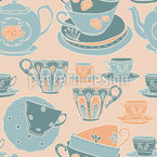Time for tea Seamless Vector Pattern Design