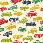 Retro Fahrt Muster Design