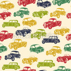 Retro Ride Seamless Vector Pattern Design