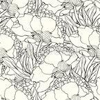 Jugendstil Blumen Nahtloses Vektormuster