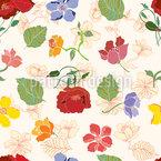 Garten Blumen Nahtloses Vektormuster