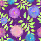 Floristic Decoration Seamless Vector Pattern Design