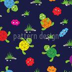Schildkröten Freunde Nahtloses Vektormuster