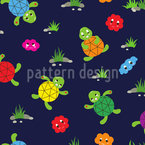 Turtle Friends Seamless Vector Pattern Design