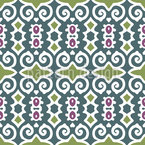 Shy Beauty Seamless Pattern