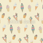 Ice Cream Seamless Vector Pattern Design