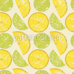 Lemon Or Lime Seamless Vector Pattern Design