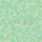 Crop Circles Seamless Vector Pattern Design