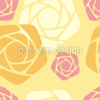 Geometric Roses Seamless Pattern