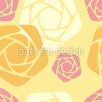 Geometrische Rosen Nahtloses Vektormuster
