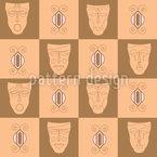 Máscaras africanas Design de padrão vetorial sem costura