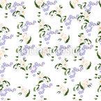 Vergissmeinicht Und Gänseblümchen Nahtloses Vektormuster