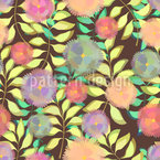 Soft Flowers On Branches Seamless Vector Pattern Design