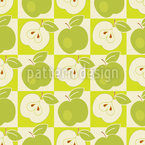 Apples To The Square Seamless Vector Pattern Design