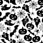 Halloween Seamless Vector Pattern Design