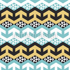 Arabische Chevron Variation Musterdesign