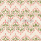 Damasco floral vintage Estampado Vectorial Sin Costura
