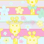 Baby Giraffen Nahtloses Vektormuster