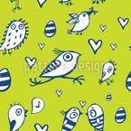 Easter birds Vector Pattern