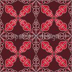 Marokkanisches Rot Nahtloses Vektormuster