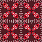 Moroccan Red Seamless Vector Pattern Design