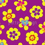 Flores amigáveis Design de padrão vetorial sem costura
