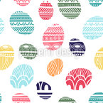 Knitted Easter Eggs Seamless Vector Pattern Design