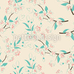 Spring In Japan Seamless Vector Pattern Design